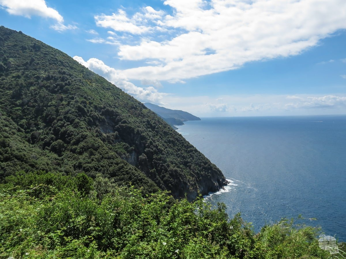 The rugged coast of the Cinque Terre.