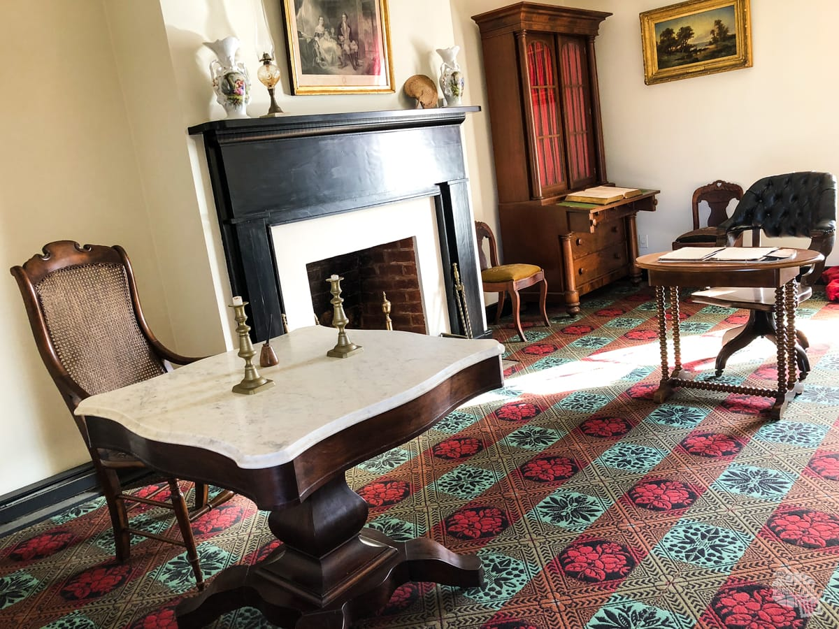 It was in this parlor where Robert E. Lee surrendered to Ulyssess S. Grant.