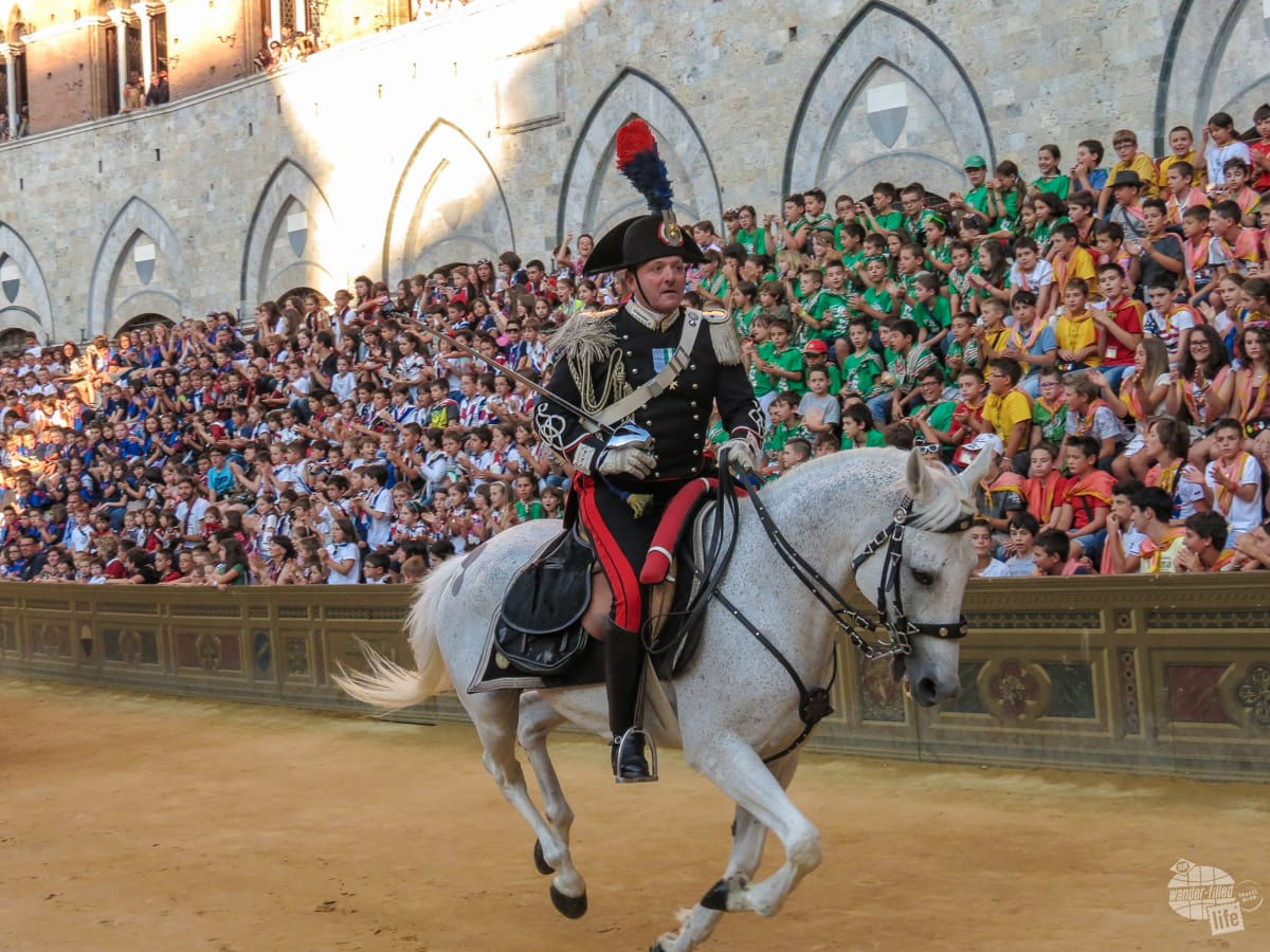 Charge of the Carabinieri, the Italian Military Police.