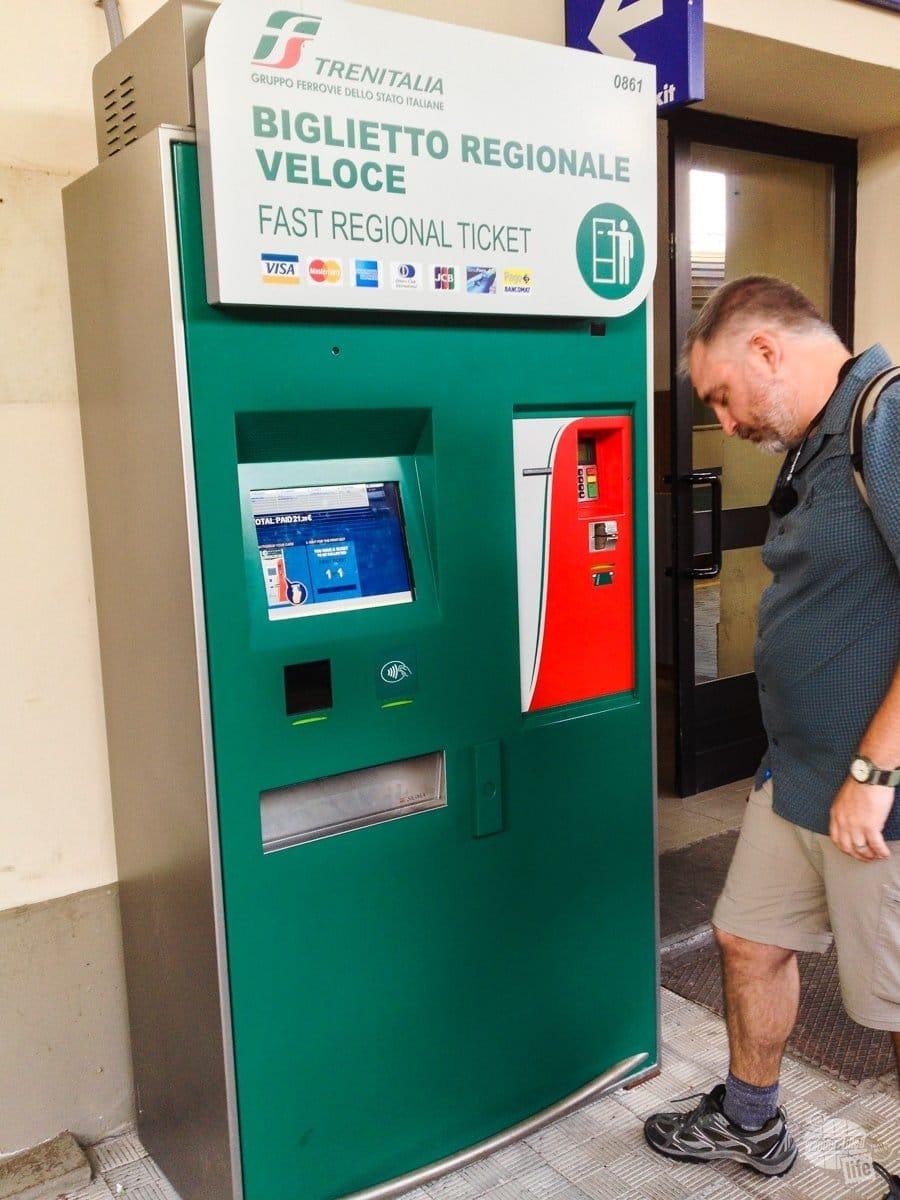 Trenitalia automated ticket kiosk.