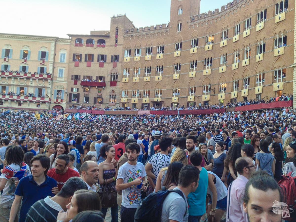The Campo just before the Palio.