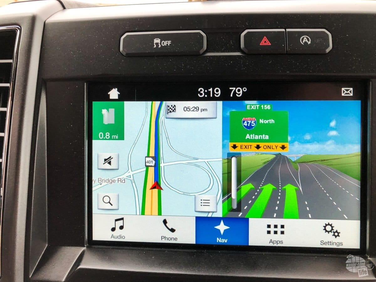 Navigation in the F-150