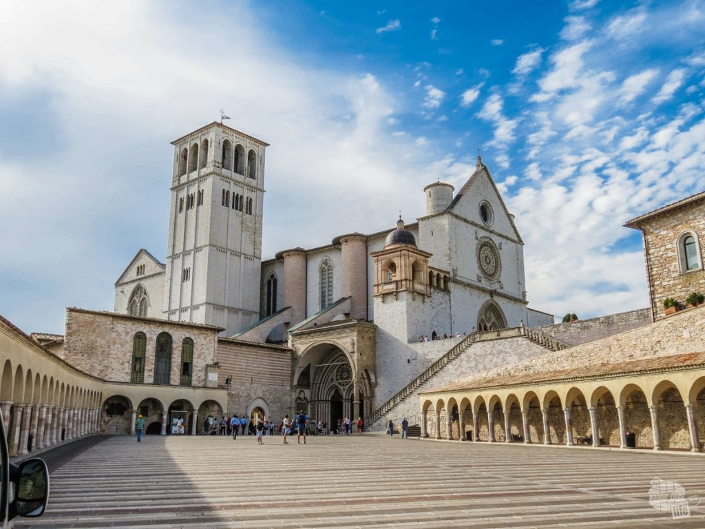 The Basilica of San Francesco d'Assisi.