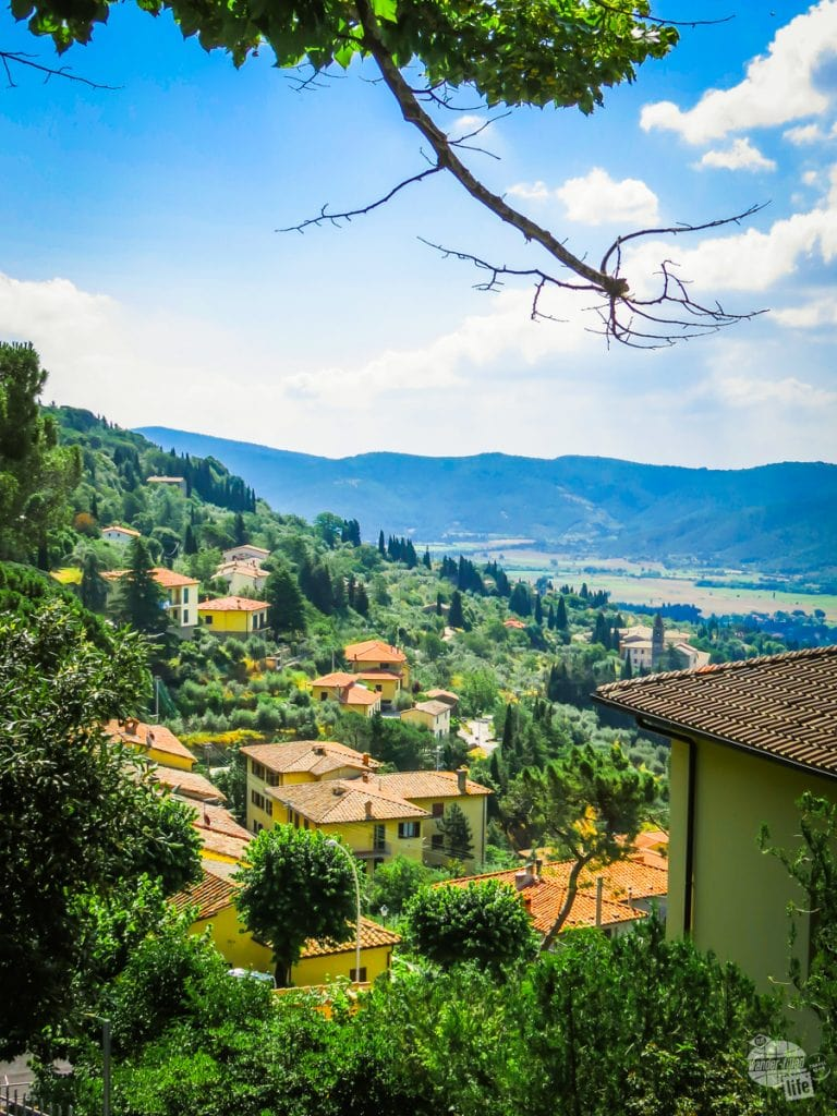 A view from Cortona of the Tuscan hills.