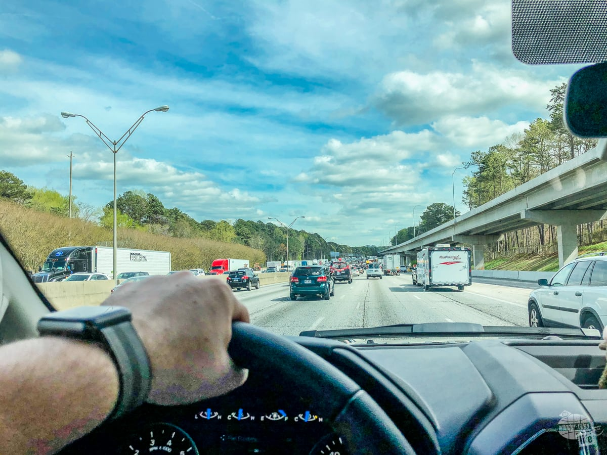 Traffic on I-75 South in Atlanta