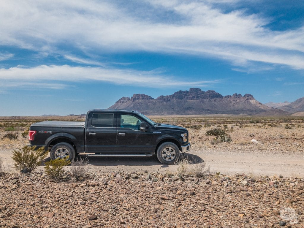 F-150 on River Road, one of the primitive dirt roads in Big Bend National Park