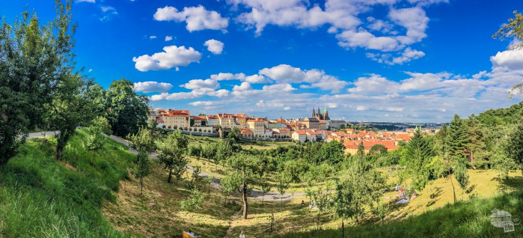 A panorama of the Prague Castle from Petrin Hill