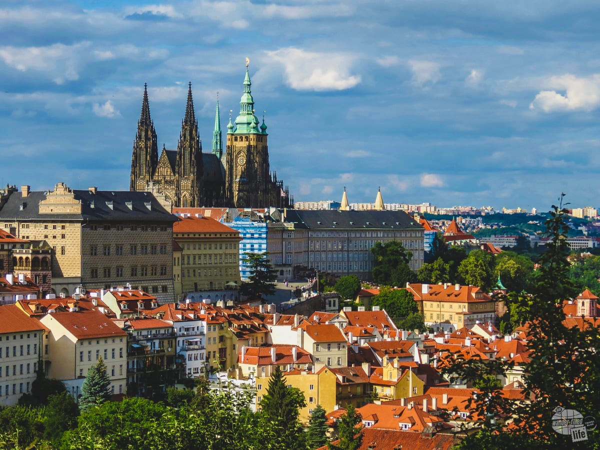 Prague Castle from Petrin Hill