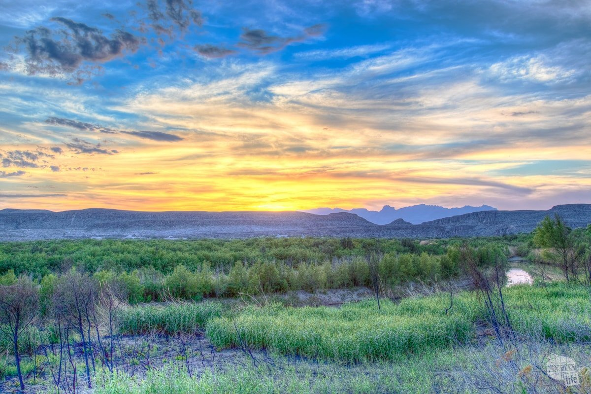Sunset near the Rio Grande Village Campground.