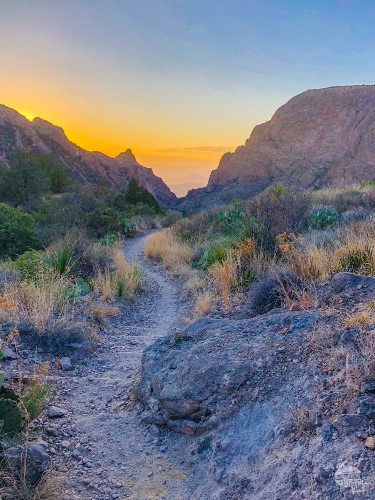 Sunset on the Basin Loop Trail