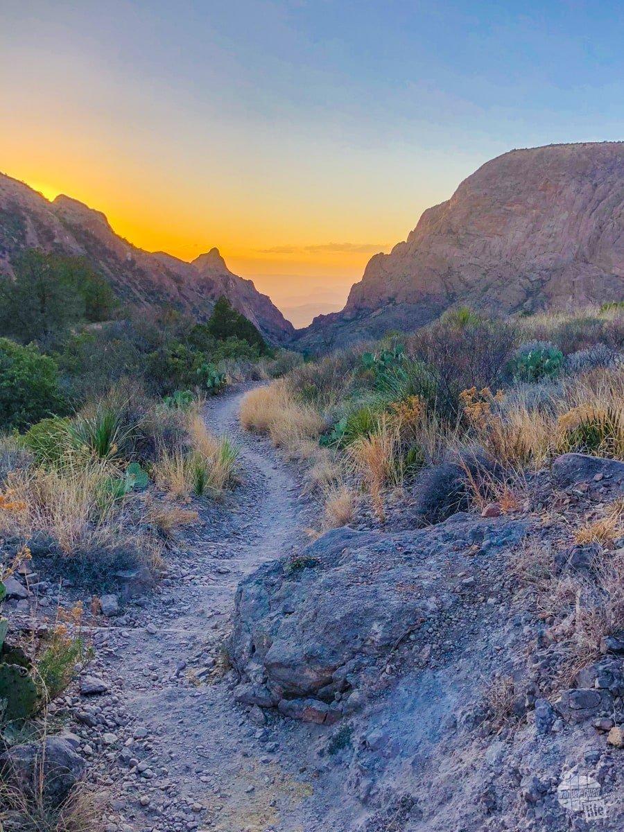 Sunset on the Basin Loop Trail