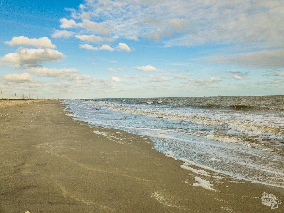 We ended up driving right along the beach in southwest Louisiana.