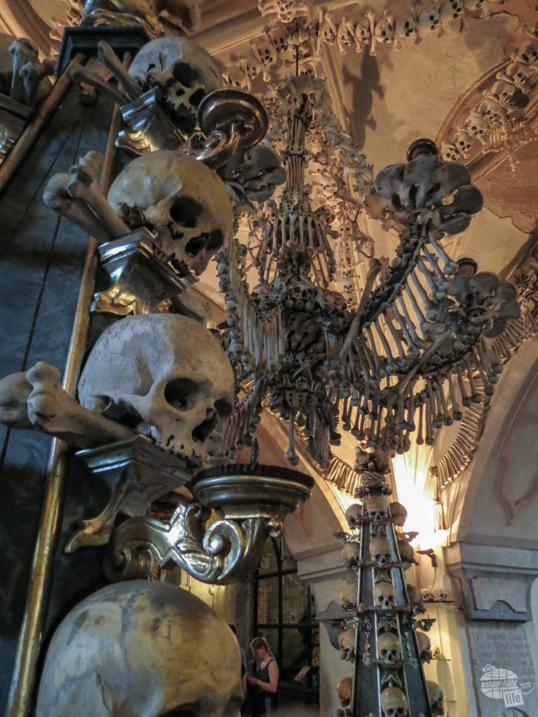 Bones in the Sedlec Ossuary in Kutna Hora