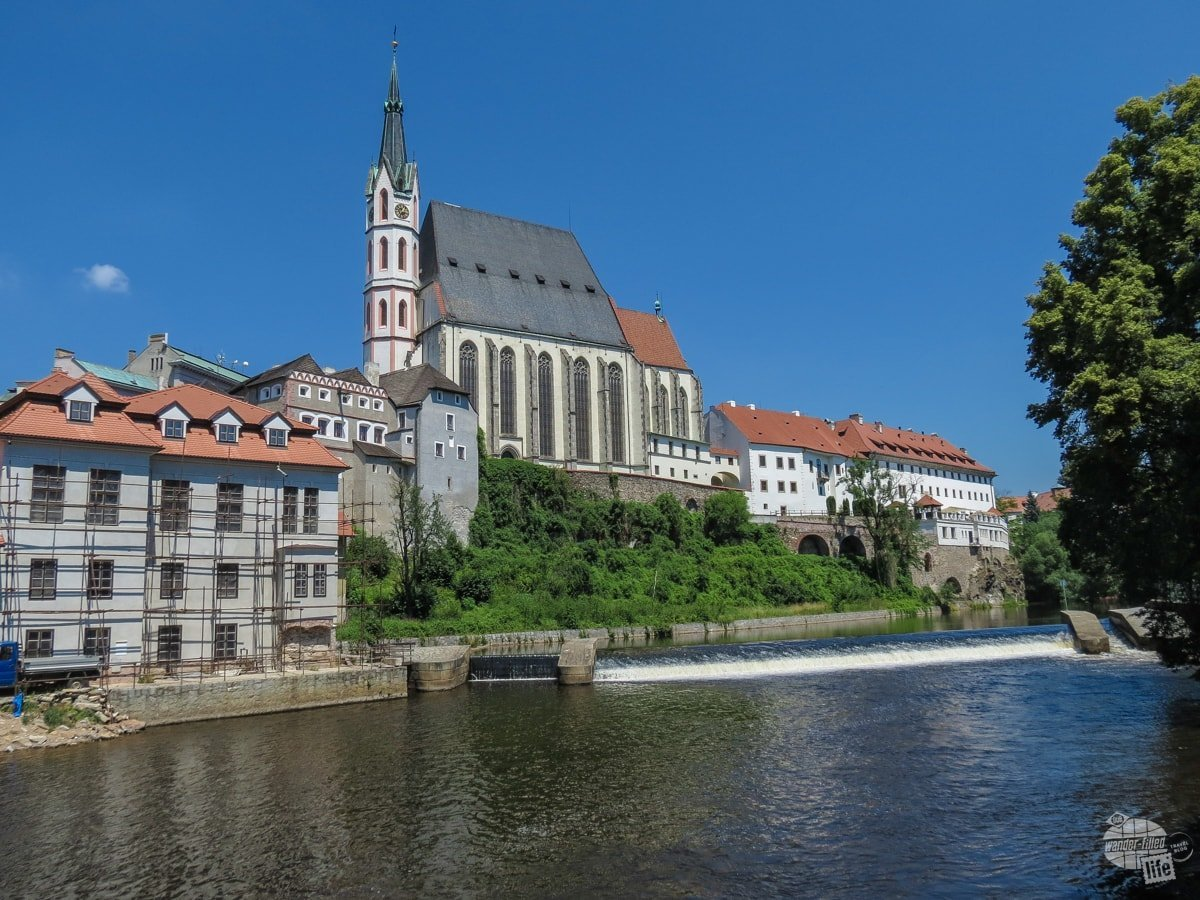 Just a quiet spot by the river in Cesky Krumlov