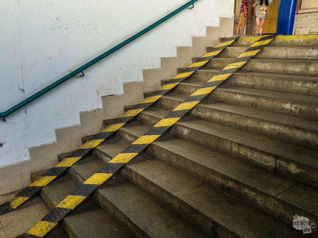 Wheelchair ramp in Kutna Hora.