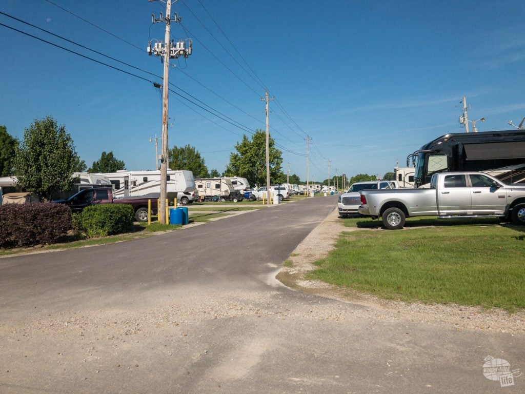 The Agricenter RV Park is a good base for exploring Memphis if you are staying in a camperl, but there is not much in the way of shade.
