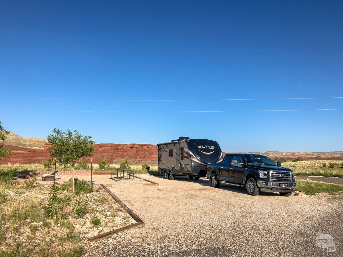 Our campsite in Bighorn Canyon was excellent. Easily one of our favorite sites even though it did not have sewer connections.