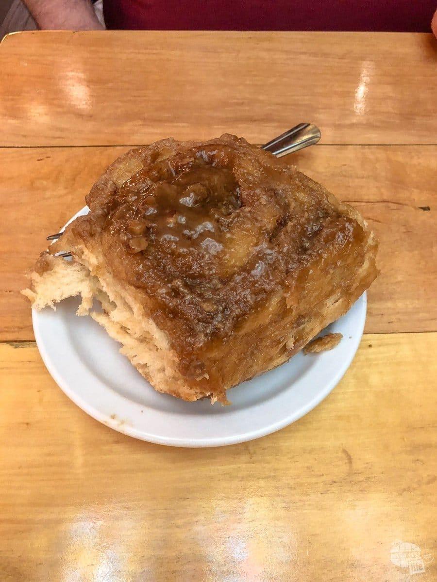 Caramel Pecan Roll at Wall Drug