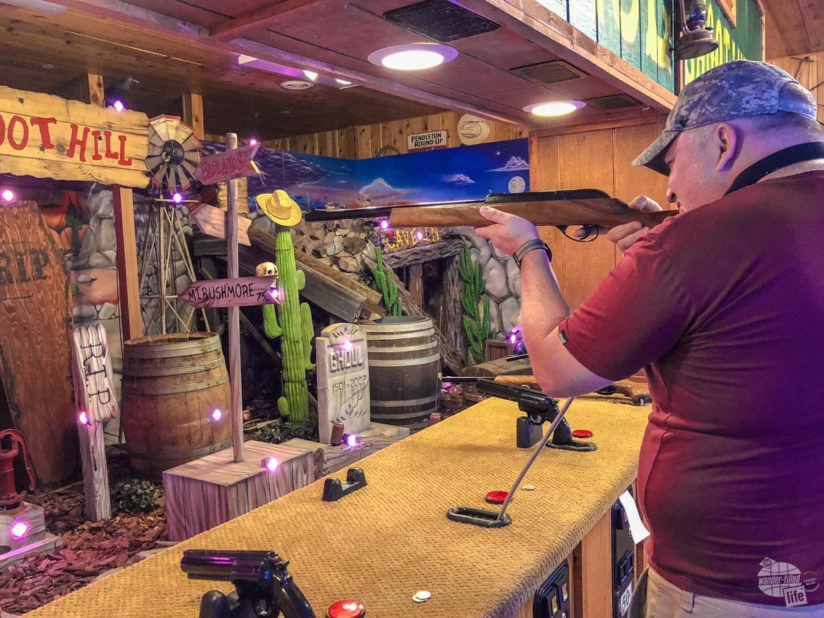 Shooting gallery at Wall Drug.