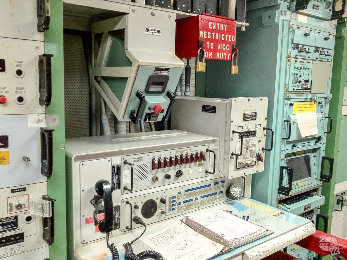 The missle control console at Minuteman Missile National Historic Site.