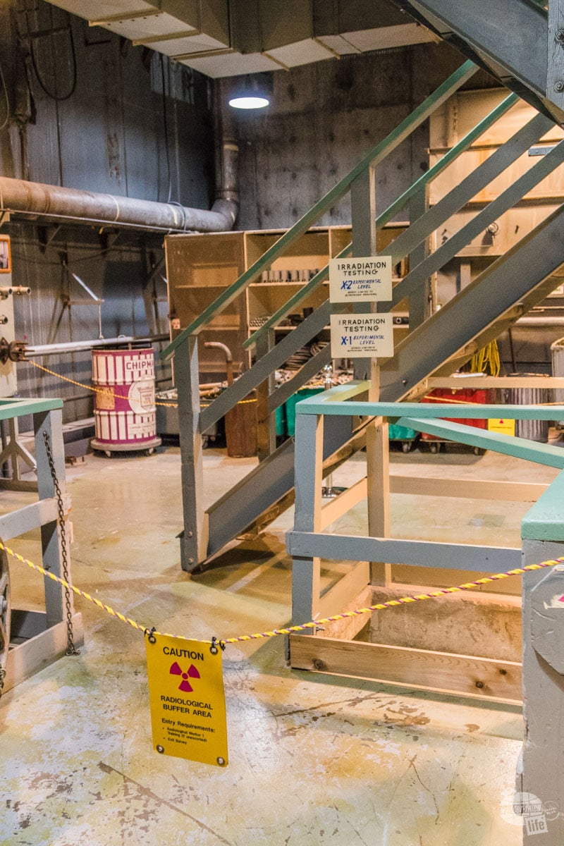 Warning sign at Reactor B
