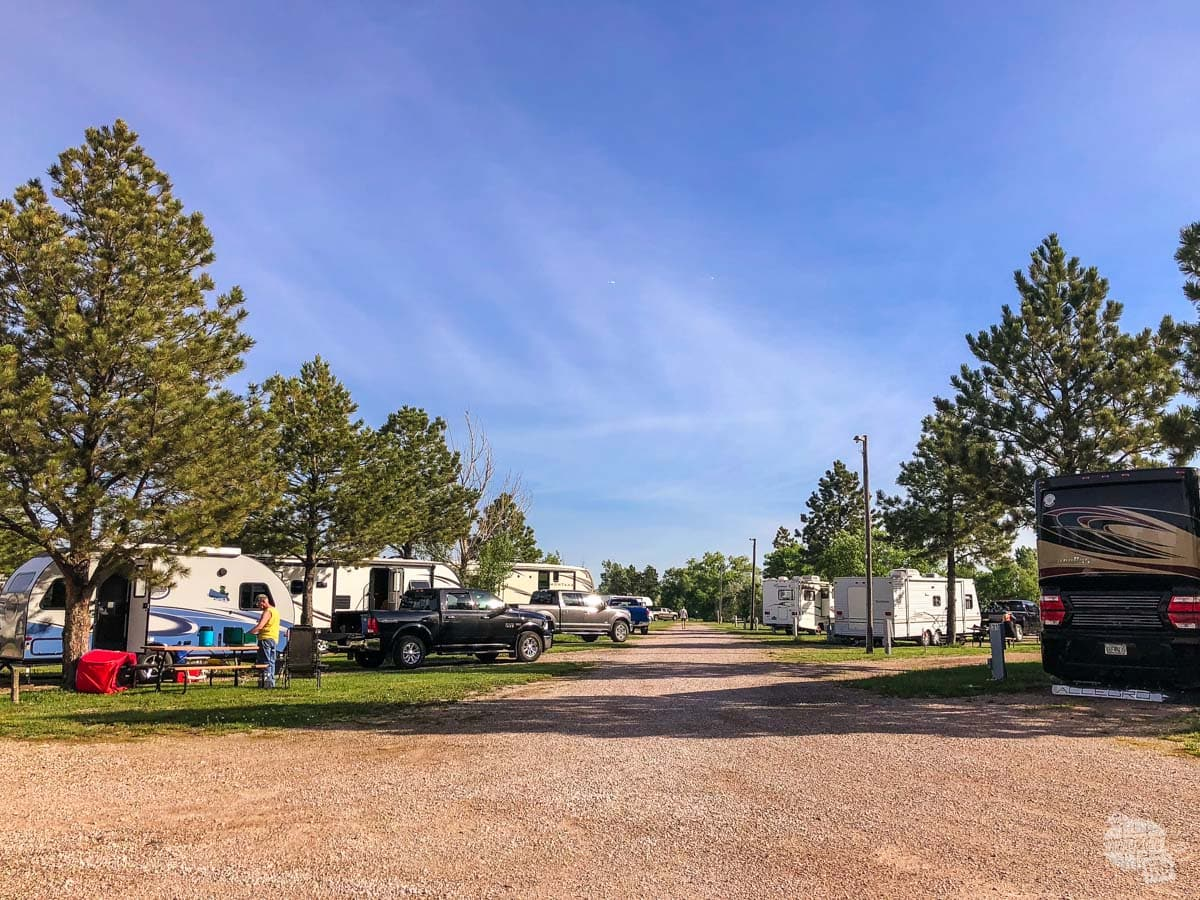 Sleep Hollow Campground in Wall, SD