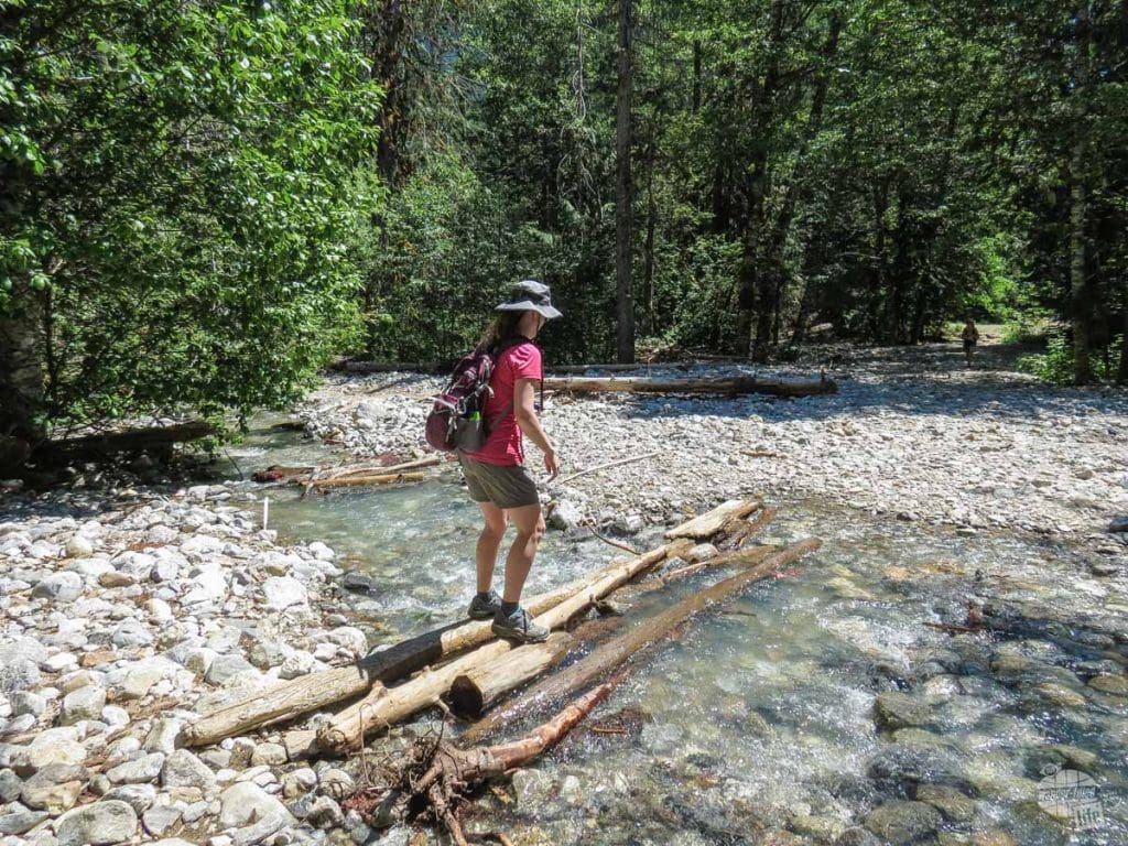 Creek crossing in North Cascades.