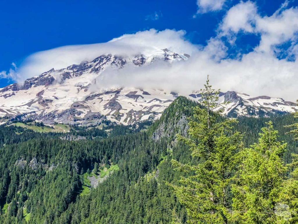 Most days, even on sunny days, this is the best you will see of Mt. Rainier. The mountain makes its own weather.