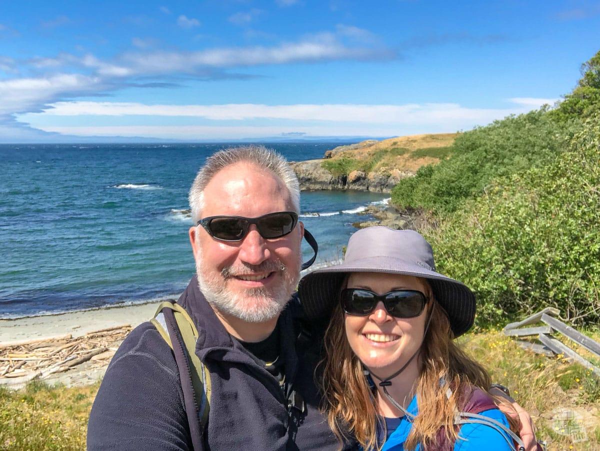 Selfie at Granny's Cove on San Juan Island