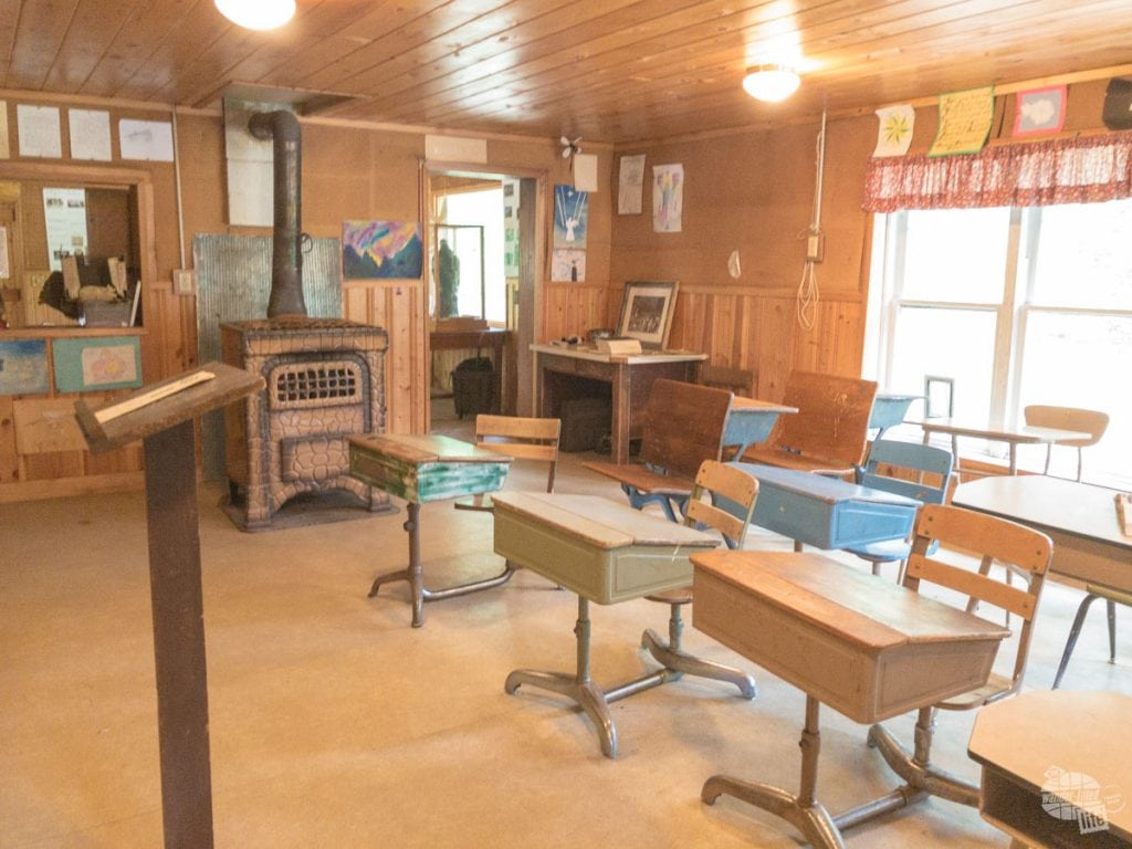 This two-room schoolhouse in Stehekin was the only school for grades K-8 until 1988 when a new school was built.