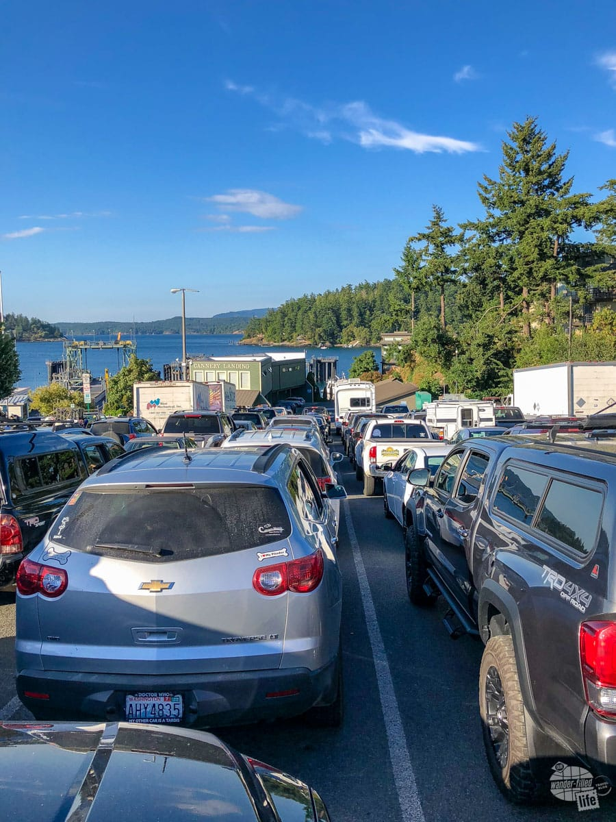 Ferry staging on San Juan Island