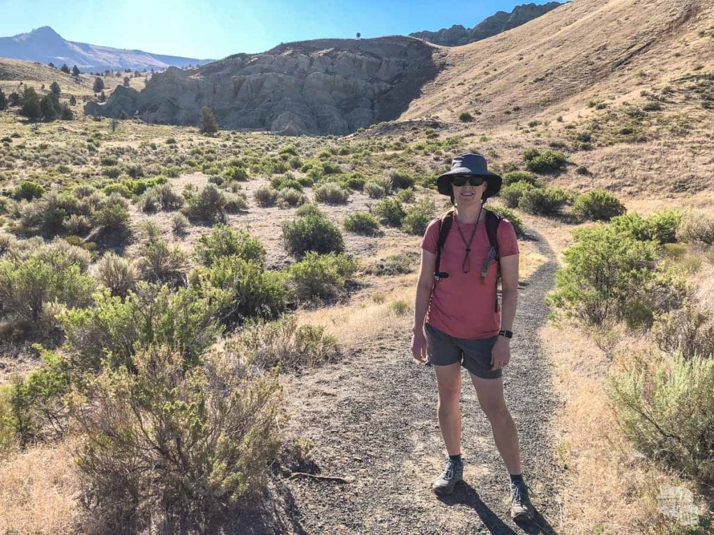 Bonnie on the Blue Basin Trail at John Day Fossil Beds National Monument.