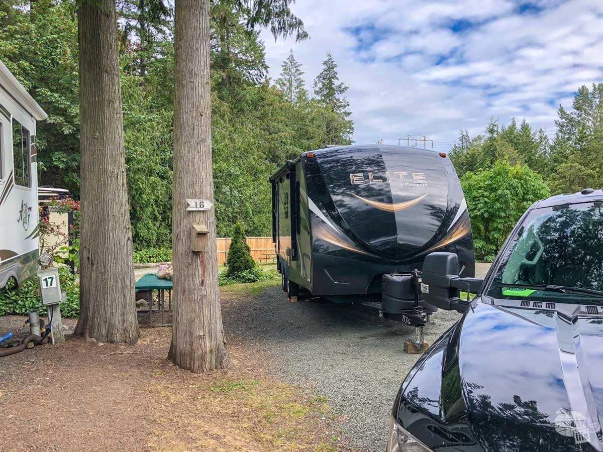Our campsite in Port Angeles