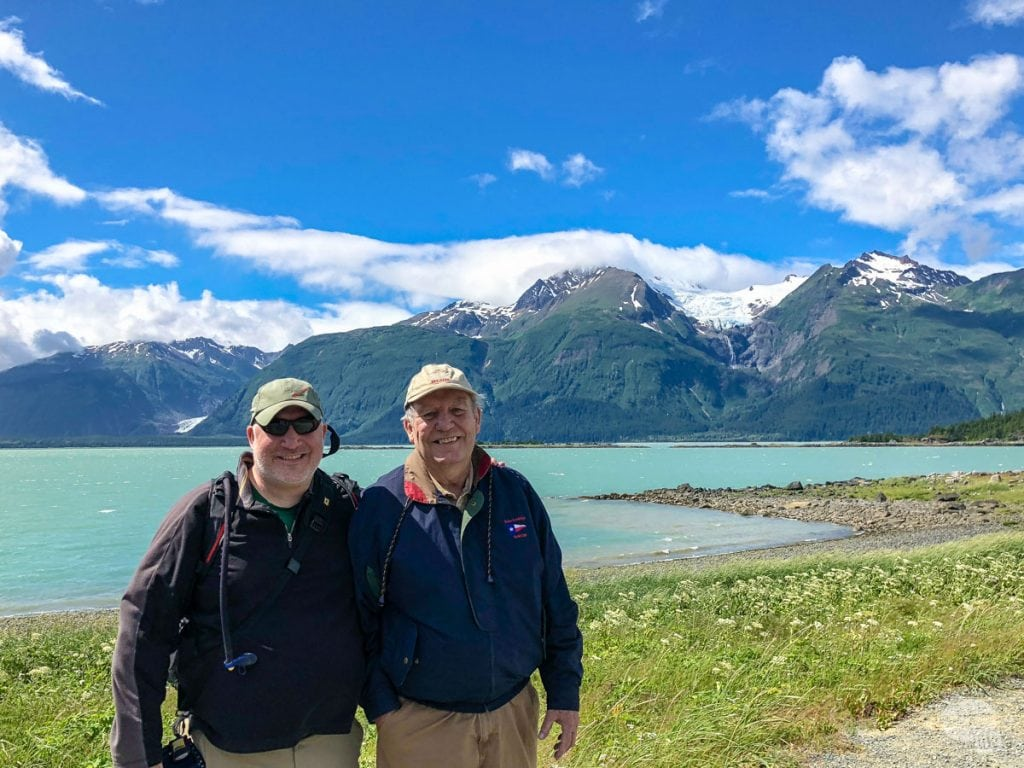 Grant and his dad in Haines