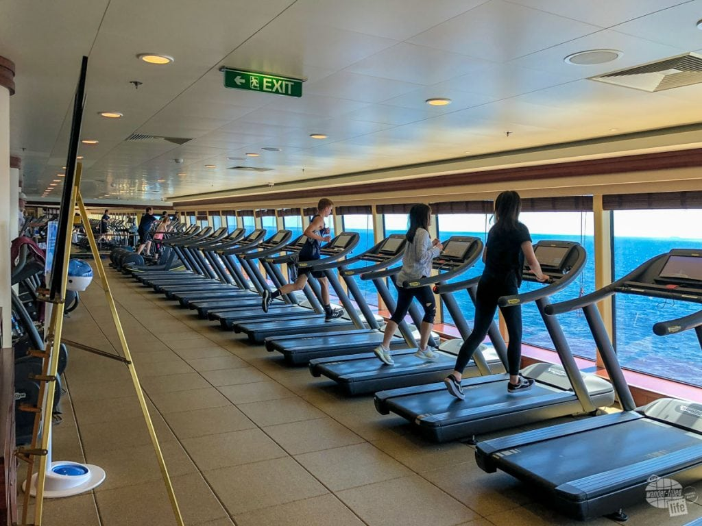Fitness center on Norwegian Pearl