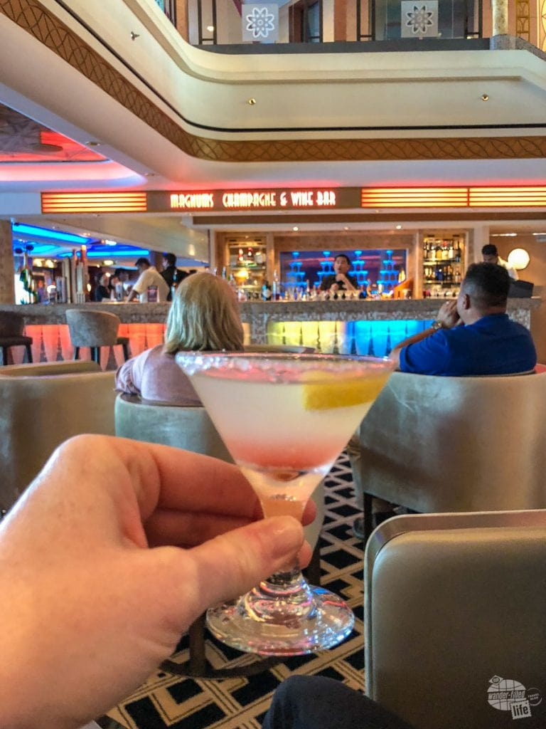 Martini Tasting onboard the Norwegian Pearl