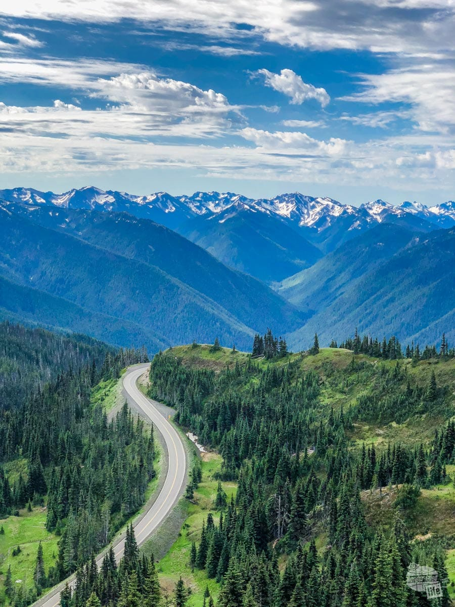 The road to Hurricane Ridge