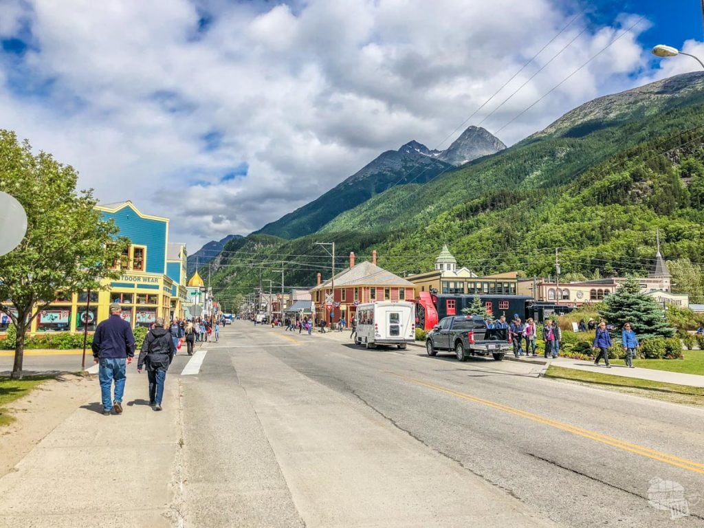 The main drag of Skagway
