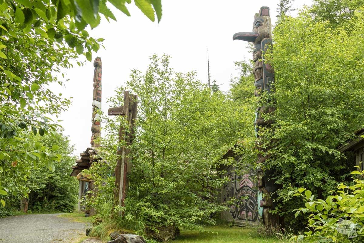 Totems in Potlatch Park