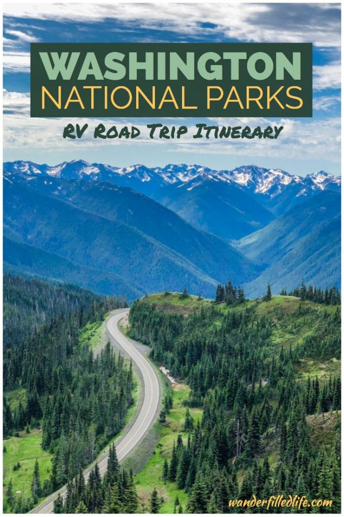 Looking for an epic road trip to all of the National Park Sites in Washington? See how we did it with this 24-day Washington RV trip itinerary.