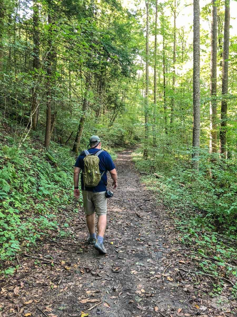 Grant on the trail in Big South Fork NRRA