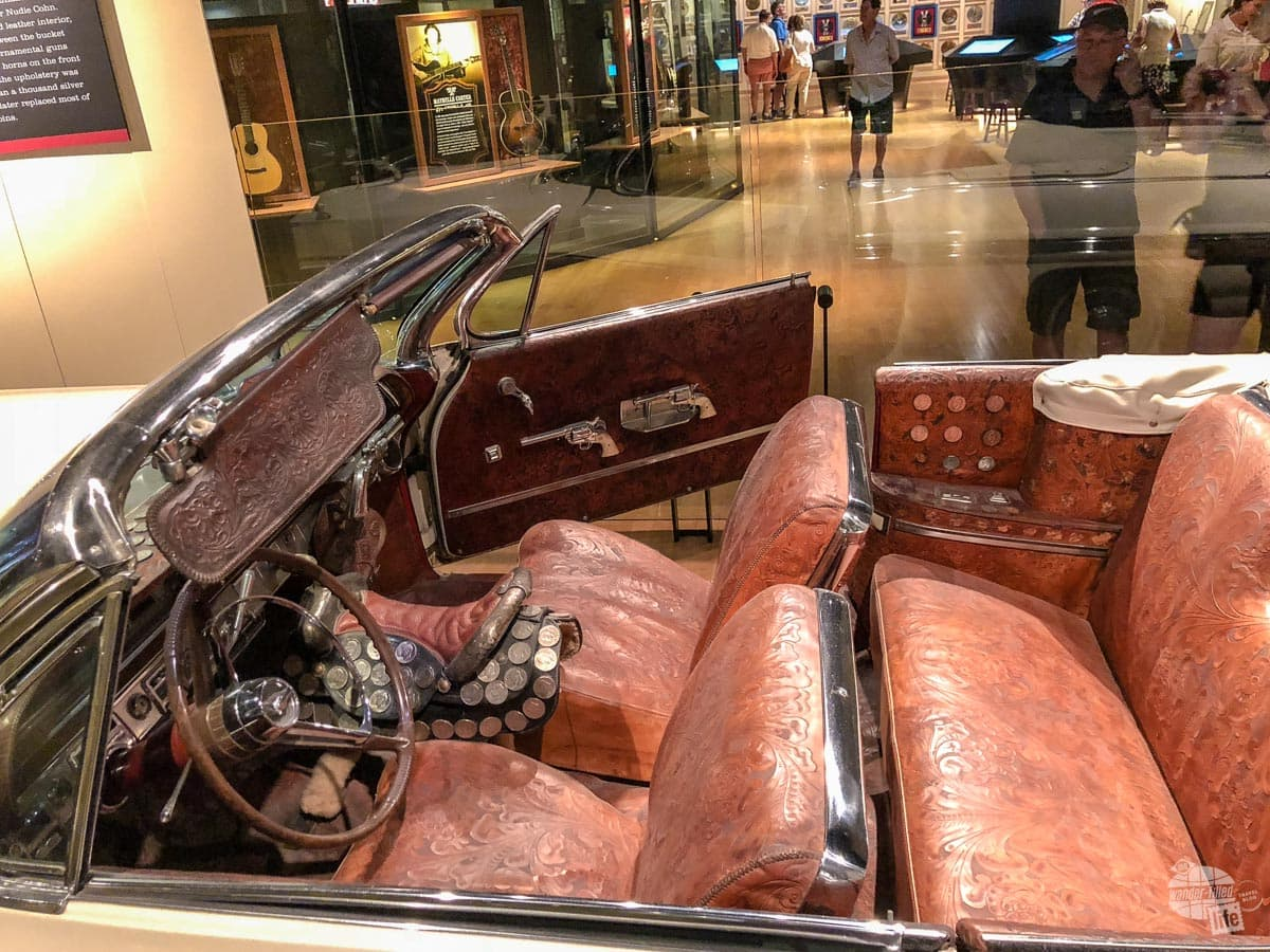 A Nudie Custom car belonging to Webb Pierce at the Country Music Hall of Fame.