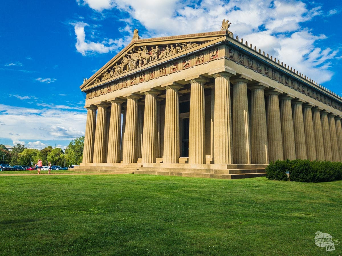 The Parthenon in Nashville is a scale replica of the one in Athens, Greece.