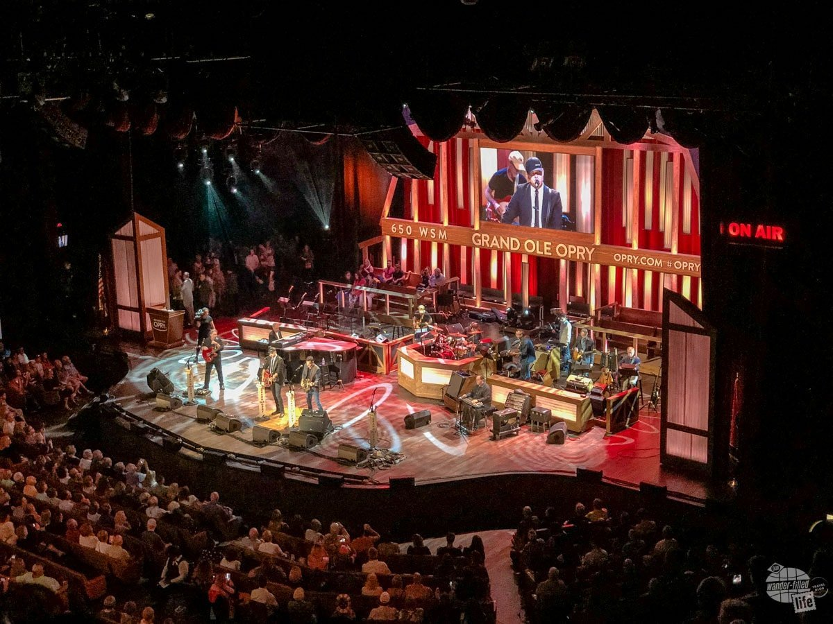 Walker McGuire rocking the stage at the Grand Ole Opry.