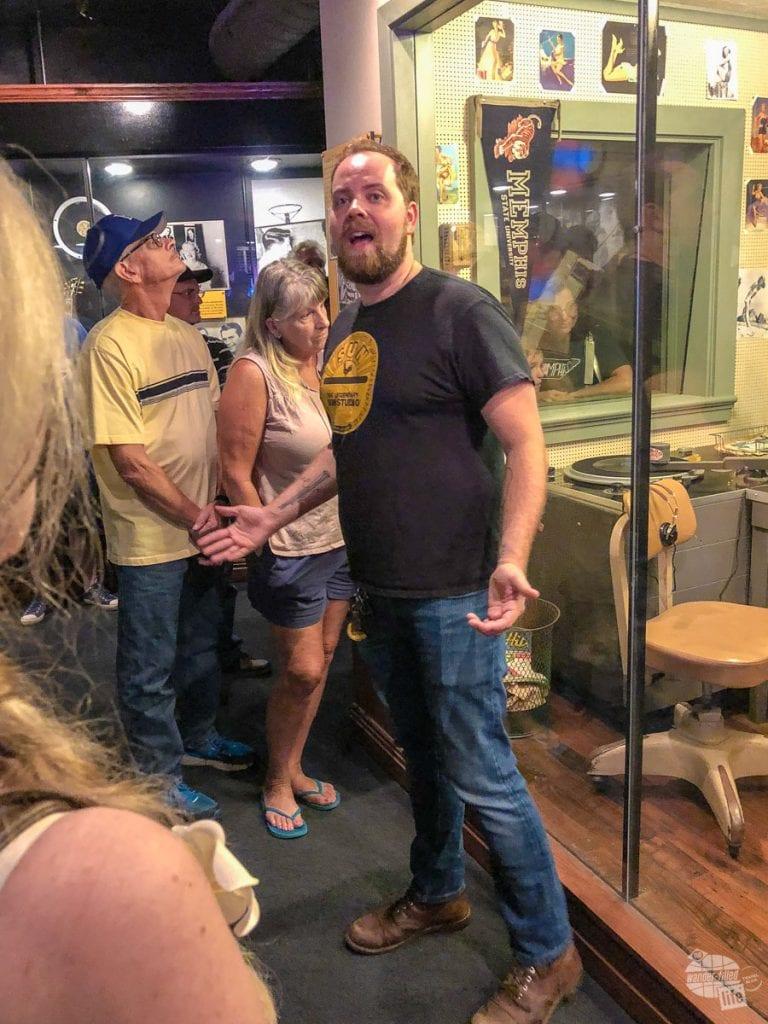 Touring Sun Studio in Memphis