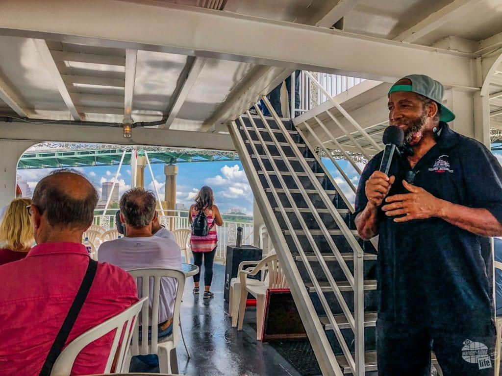 Memphis Riverboat tour guide