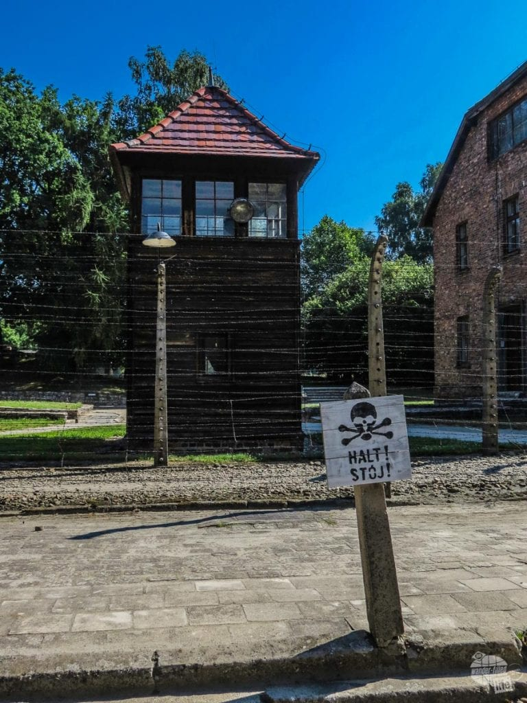 Auschwitz guard tower