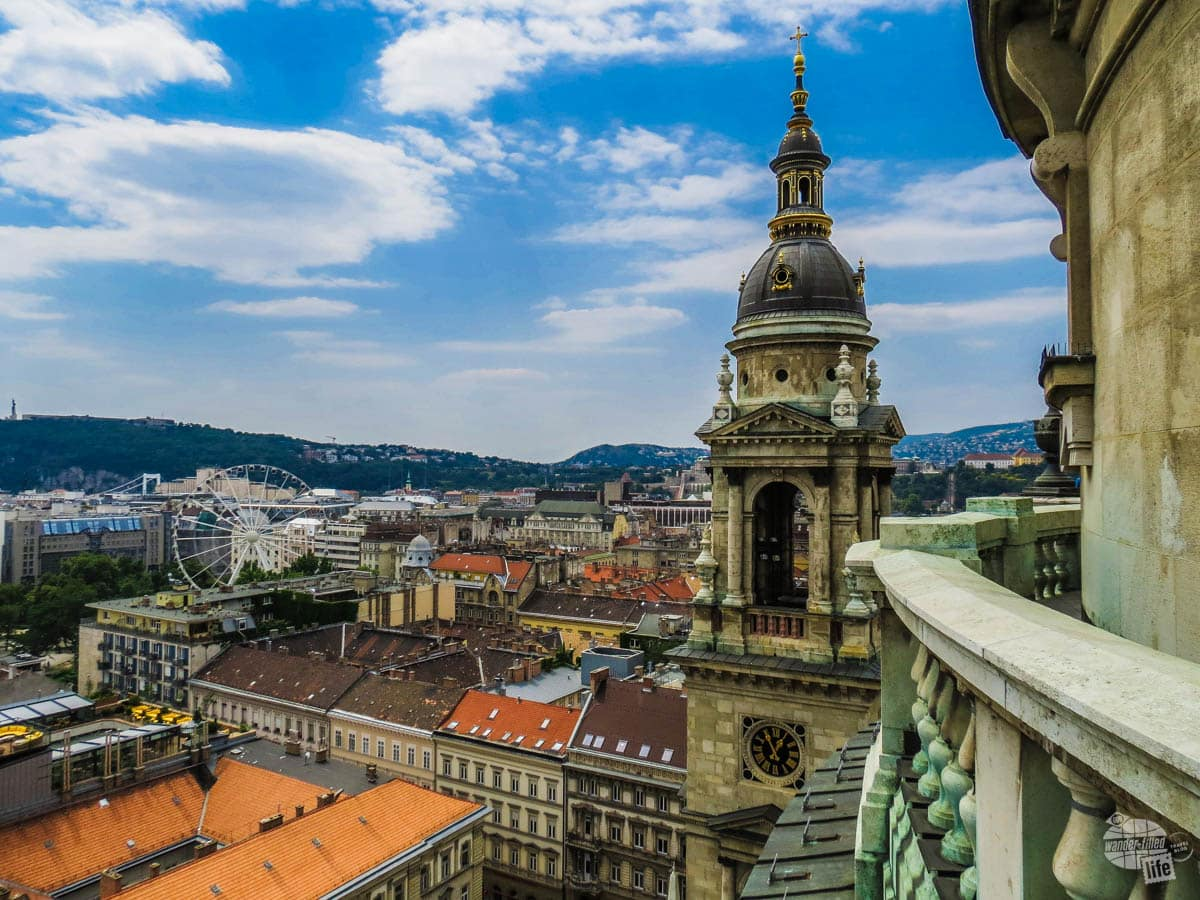 View from St. Stephen's Basilica in Budapest
