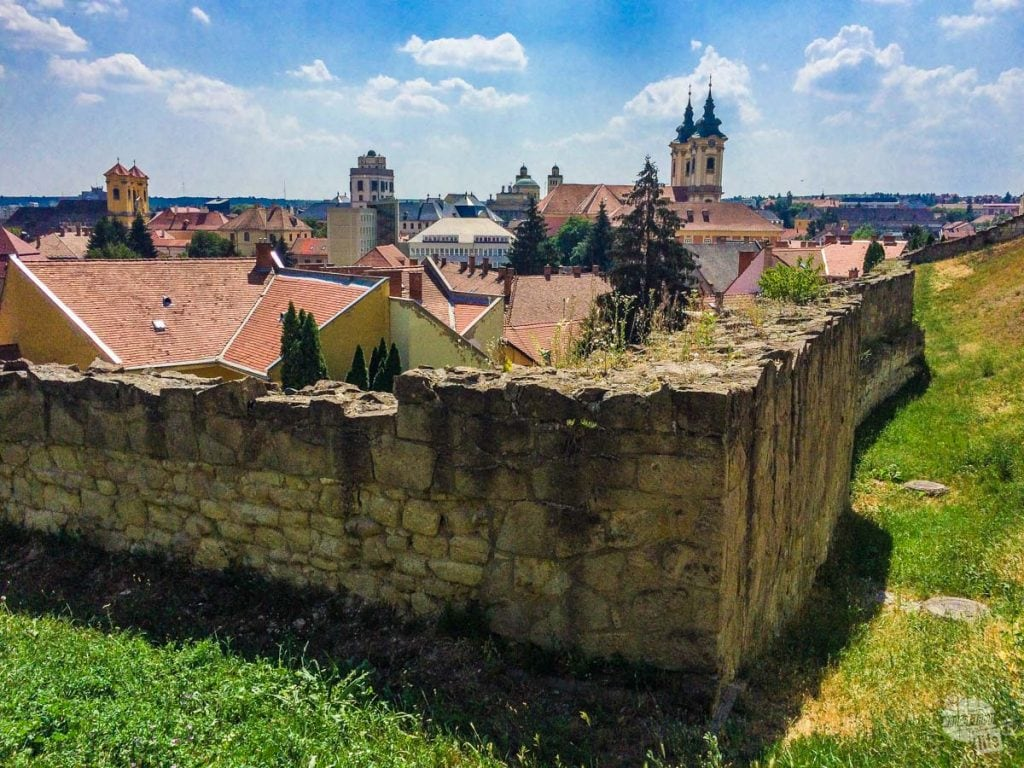 The skyline of Eger from the castle