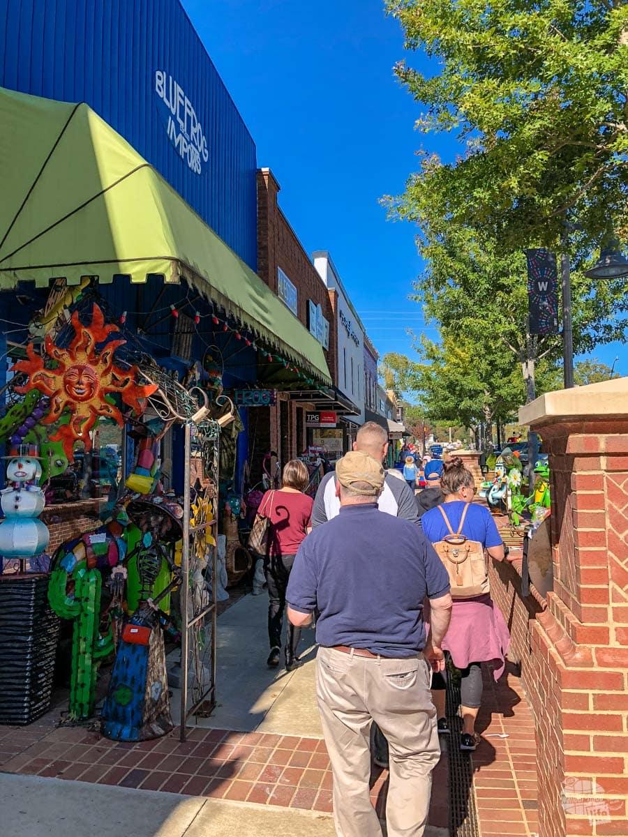 Shops in downtown Woodstock